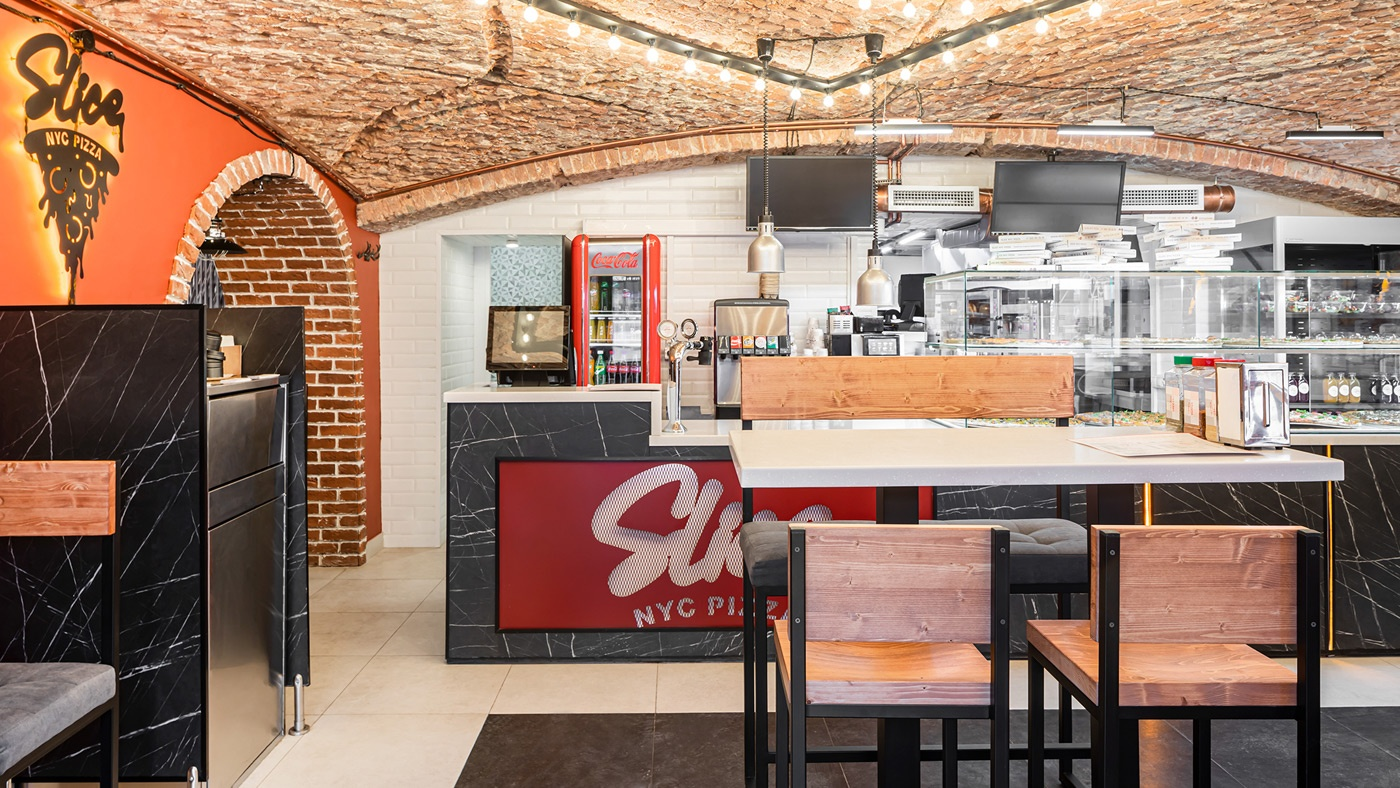 Интерьер Slice Nyc Pizza